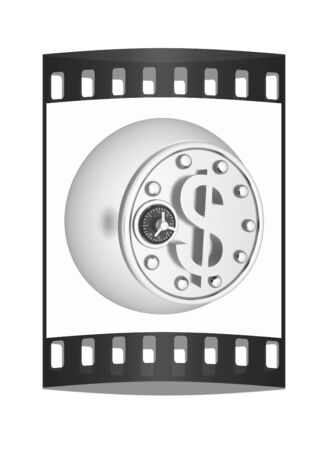 safe in the form of dollar coin. The film strip photo