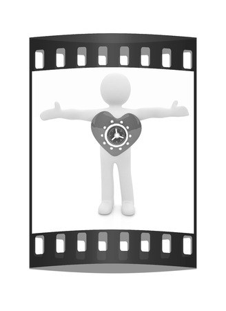 3d man - people with safe heart. The film strip