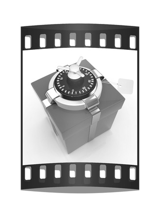 safe - gift. The film strip Stock Photo - 40552580