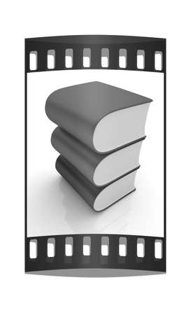 bookshop: Glossy Books Icon isolated on a white background. The film strip Stock Photo