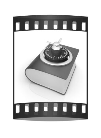 lockout: Information security concept. The film strip Stock Photo