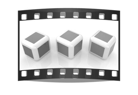 Abstract colorfull blocks 3d. The film strip photo