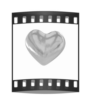 gold heart: Gold heart. The film strip