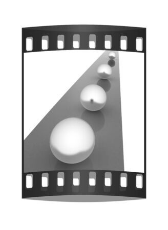 one lane road sign: the concept of motion. The film strip