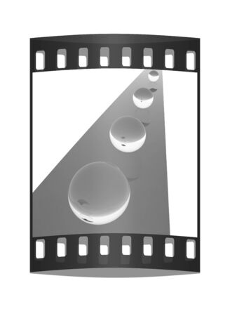 individual color: the concept of motion. The film strip