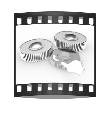 pinkie: Gear set. Concept is the main link on a white background. The film strip