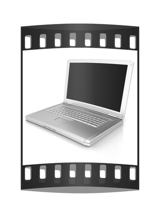 powerbook: Laptop Computer PC on a white background. The film strip