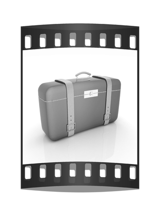 travelers suitcase. The film strip