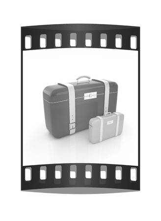 Travelers suitcases. The film strip