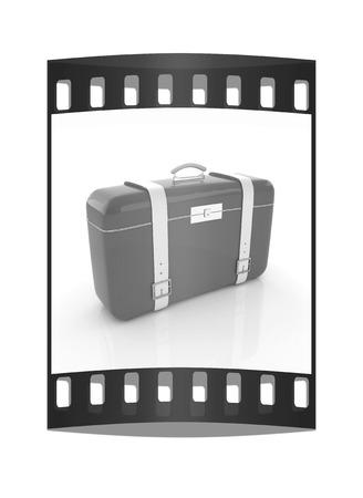 traveler's suitcase. The film strip Reklamní fotografie - 126243993