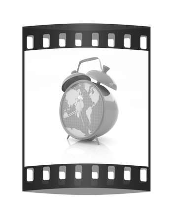 Alarm clock of world map and alarm clocks stock photo picture and clock of world map the film strip photo gumiabroncs Image collections