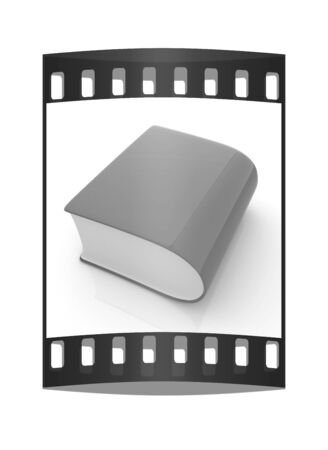 bookshop: Glossy Book Icon isolated on a white background. The film strip