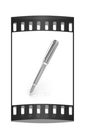 clericalist: Gold corporate pen design. The film strip