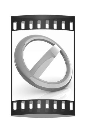 disallowed: forbidden sign. The film strip Stock Photo