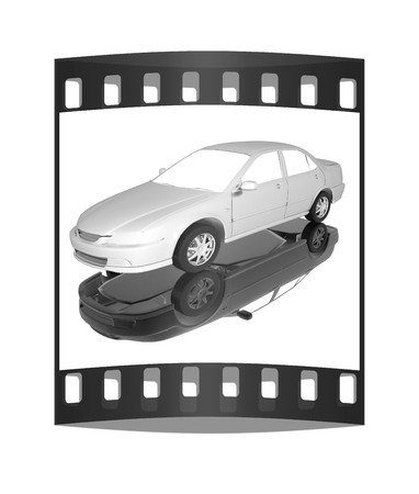 energy market: Car Illustrations. The film strip