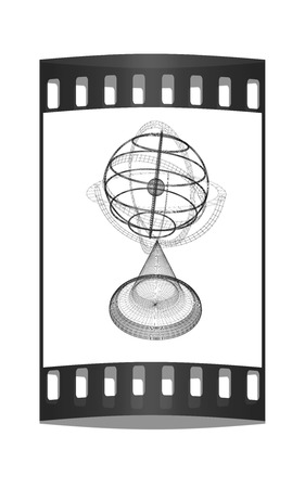 terrestrial globe: Terrestrial globe model. The film strip Stock Photo