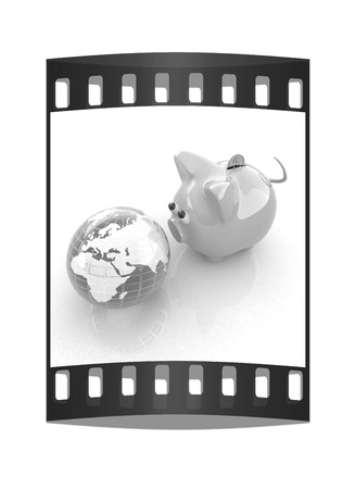 global retirement: global saving. The film strip Stock Photo