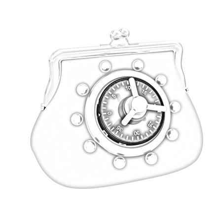 turn dial: purse safe concept