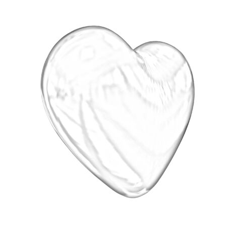 metall: 3d glossy metall heart isolated on white background Stock Photo
