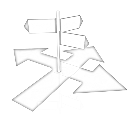 blank road sign: 3D blank road sign on a white background