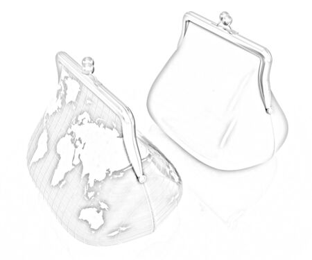 purses: Purse Earth and purses. On-line concept on a white background