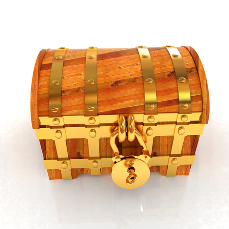 wooden insert: The chest