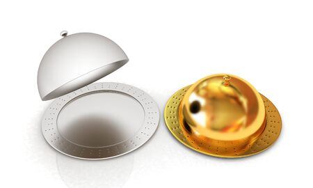 silver ware: Restaurant cloches