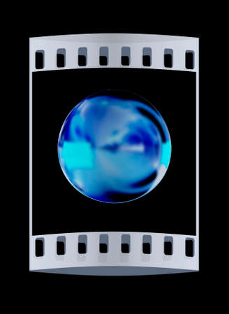 shiny button: Golden Shiny button isolated on black background. The film strip