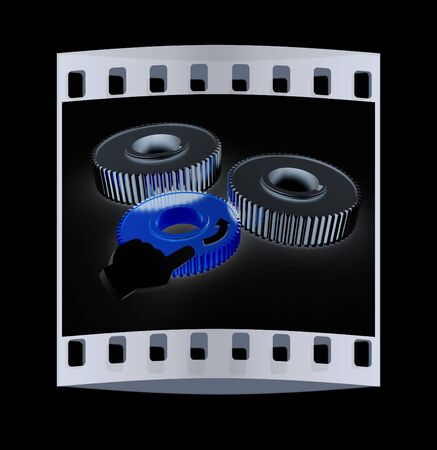 pinkie: Gear set. Concept is the main link on a black background. The film strip