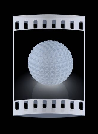 blotchy: Abstract glossy sphere with pimples on a black background. The film strip Stock Photo