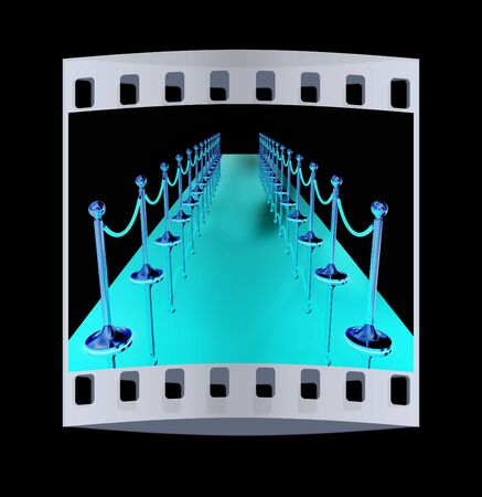 path to success: 3d illustration of path to the success. The film strip Stock Photo