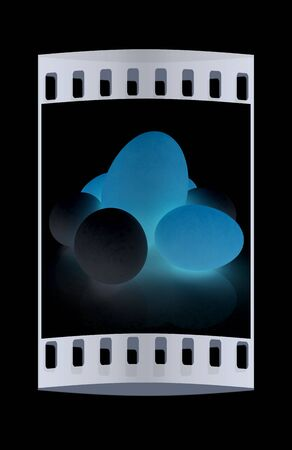 egg cups: Big egg and eggs. The film strip