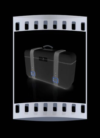 clear skin: travelers suitcase. The film strip