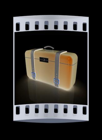 valise: travelers suitcase. The film strip