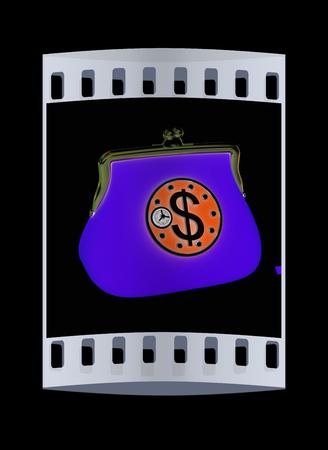 turn dial: purse safe concept. The film strip