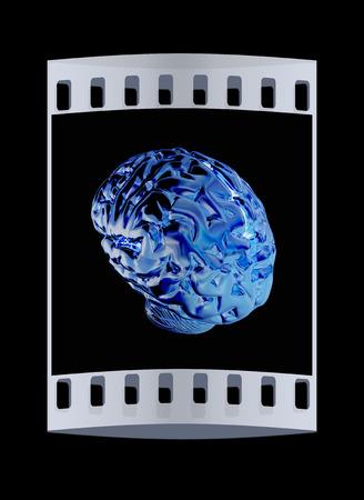 sensory: Gold human brain. The film strip