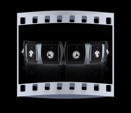 durability: Several safes. The film strip Stock Photo