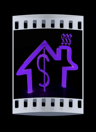 expenditure: Household Expenditure icon. The film strip Stock Photo