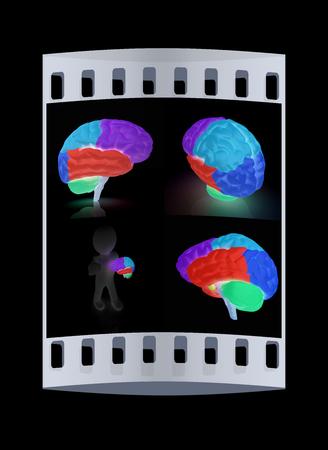 sensory: Colorfull human brain. The film strip Stock Photo