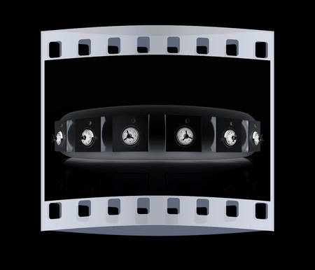 several: Several safes. The film strip Stock Photo
