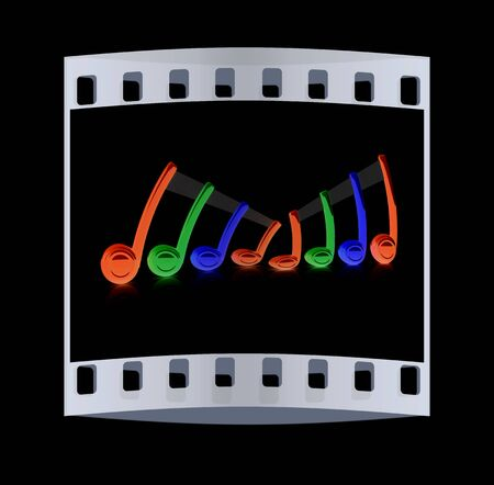 alt: Colorfull note. The film strip