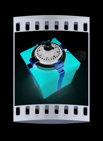 safe - gift. The film strip Stock Photo - 45077377