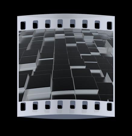 metall: Metall urban background. The film strip