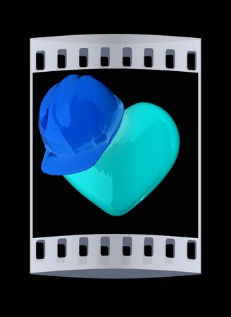 dangerous love: hard hat on heart. The film strip