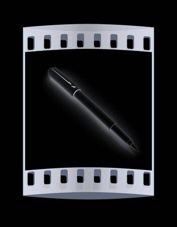 clerical: Metall corporate pen design. The film strip