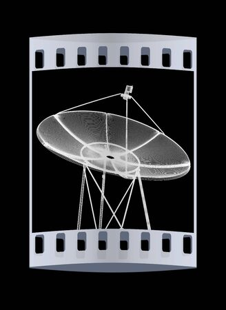 transmit: 3d satellite Line. The film strip Stock Photo