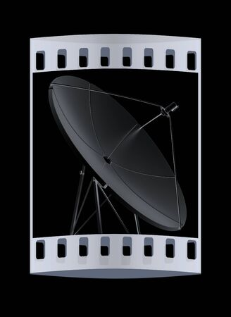 satellite 3d: 3d satellite Line. The film strip Stock Photo