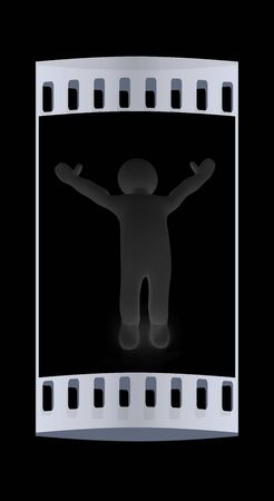 happy people: 3d people - man by happy. The film strip Stock Photo
