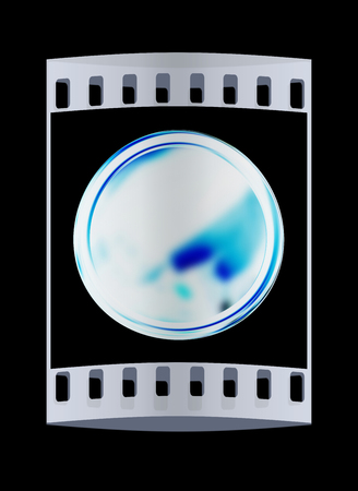 conduct: Golden Web button isolated on black background. The film strip