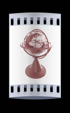 terrestre: Modello di globo terrestre. La striscia di pellicola